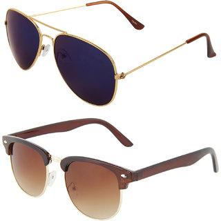 485eea1b3 Buy Zyaden Combo of Aviator Sunglasses Clubmaster Sunglasses (Combo-86)  Online - Get 79% Off