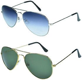 Zyaden Combo of Aviator Sunglasses  (Combo-95)