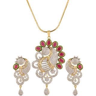 Buy nitals jewellery ad studded pendant set with red ruby stone nitals jewellery ad studded pendant set with red ruby stone aloadofball Images