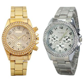 Paidu Multicolored Analog Wrist Watch - Set of 2