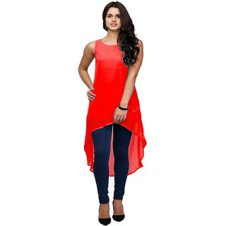 kurti in red colour (Unstitched)