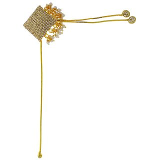 Anuradha Art Gold Party Hair Pin Hair Accessories
