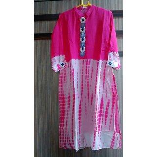 ADA Designer Handmade Chikankari Regular Wear Cotton Kurti Kurtas