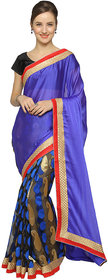 florence clothing company Blue Jacquard Embroidered Saree With Blouse