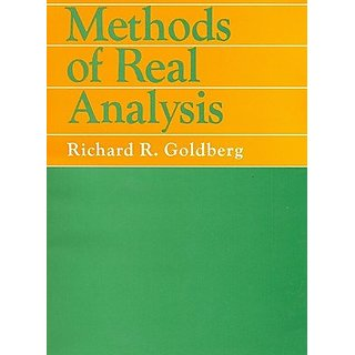 Methods Of Real Analysis Paperback 2012