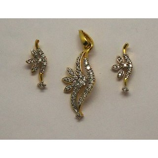 Cutie little American diamond Pendent set 1090ps By JNV Fashion Jewelery