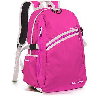 Bonmaro Snail Walk Pink School/College Casual Backpack Bag
