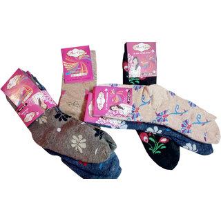 Ladies Socks Winter Special Pack Of 6 Socks