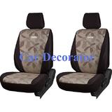 Car Seat Covers Printed Brown For Hyundai Verna + Free Dvd Holder
