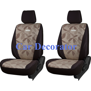 Car Seat Covers Printed Brown For Volkswagen Polo  + Free Dvd Holder