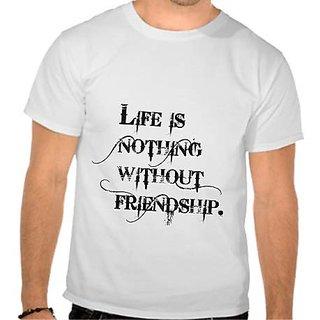 Happy Friendship Day Round Neck T-Shirt
