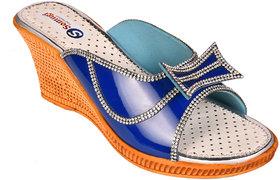 Somugi Women Blue Wedges