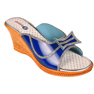 Somugi Women Blue Wedges