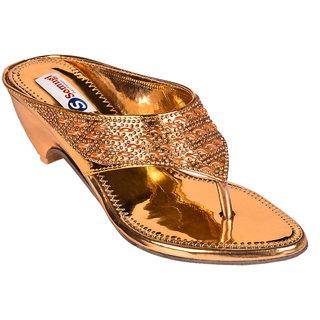 Somugi Women Gold Wedges