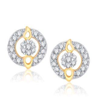 V. K. Jewels Full Circle Gold And Rhodium Plated Earrings -ER1019G [VKER1019G]
