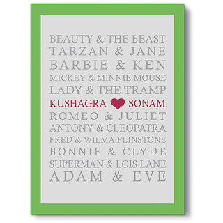 Humptee Dumptee Romantic Couples Name Customized Best Quality Wooden Frame 13x9 Inch Complete Personalised Gift For Him Her Husband Wife