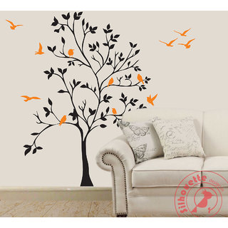 Tree Of Life Silhouette Design Wall Art Part 54