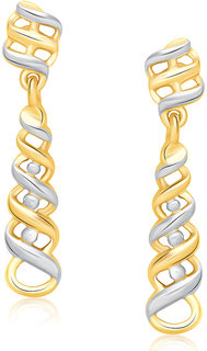 VK Jewels Ideal Gold and Rhodium Plated Earrings -ER1308G [VKER1308G]