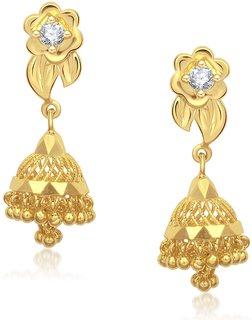 VK Jewels Traditional Gold Plated Jhumki -ER1200G [VKER1200G]