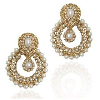 Styylo Fashion Exclusive Golden White Earring Set/S 182