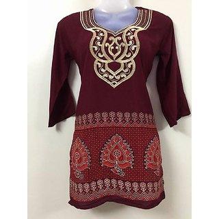 Lady Loop Women's Faux Crepe Salwar Suit Dress Material