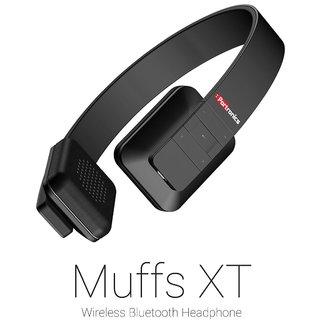 Portronics POR-607 Muffs XT Red Stereo bluetooth Headphones Black