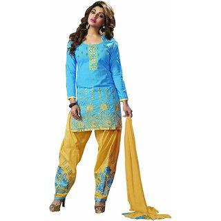 Purvi fashions women's designer dress material (Unstitched)