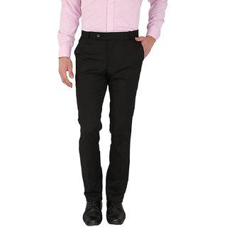 Kundan Stretch PV Formal Trouser Black Colour