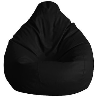 UK Bean Bags Classic Bean Bag Cover Black Size XXXL