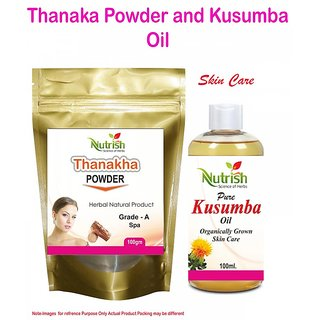 Buy Thanaka Powder 200 Gm And Kusumba Oil 200 Ml For Permanent