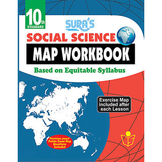 Buy 10th Standard Social Science Map Work Book English