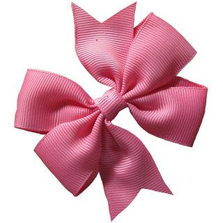 AkinosKIDS BabyGirl Grosgrain Ribbon Bow LightPink HairClip.Kids Hair Accessory
