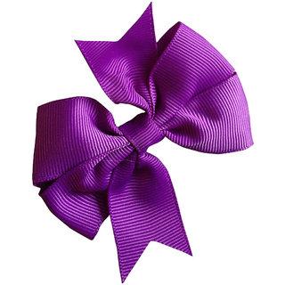 AkinosKIDS BabyGirl Grosgrain Ribbon Bow Purple HairClip.Kids Hair Accessory