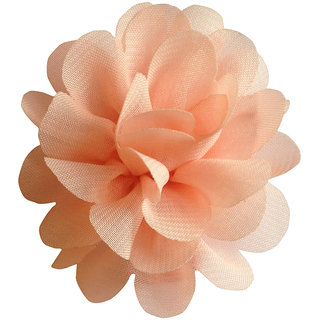 AkinosKIDS BabyGirl Lovely Chiffon Rose Peach HairClip.Kids Hair Accessory