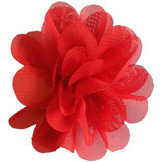 AkinosKIDS BabyGirl Lovely Chiffon Rose Red HairClip.Kids Hair Accessory