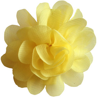AkinosKIDS BabyGirl Lovely Chiffon Rose Yellow HairClip.Kids Hair Accessory