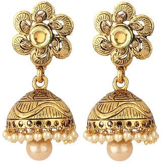Styylo Fashion Exclusive Golden White Earrings Set /S 220