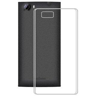 Lava X46 Back Cover Premium Quality Soft Transparent Silicon TPU Back Cover