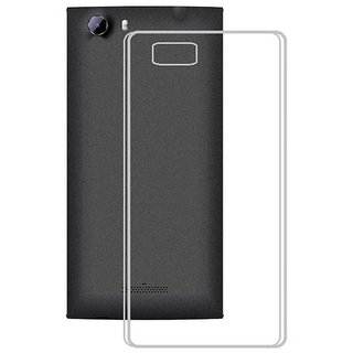 Lava A87 Back Cover Premium Quality Soft Transparent Silicon TPU Back Cover