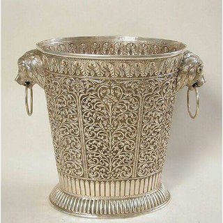 pooja silver hand made baskat