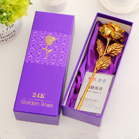 Valentine Special 24k Plated Gold Rose