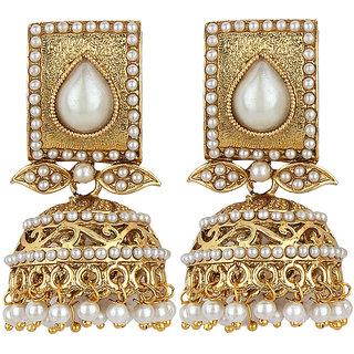 Styylo Fashion Exclusive Golden White  Earrinhs   H  170