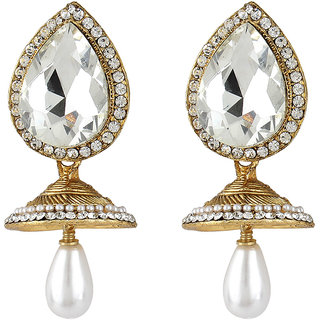 Styylo Fashion Exclusive Golden White Earrings Set /S 251