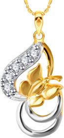Vidhi Jewels Gold Plated Artistic Brass Pendant for Girls & Women [VP216G]