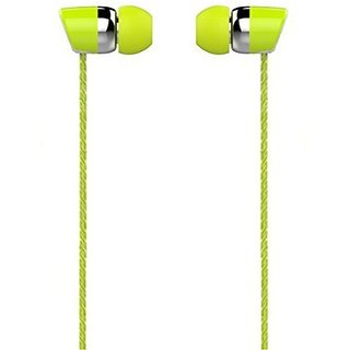 Bullet Shot head series - Universal supported 3.5mm Head phone with MIC For Music calls excellent clarity Compatible for Android Mobiles/ Tablets Iphone / Ipads Laptops Computers MP3 Players Gaming Consoles Etc-EZ031(Green)