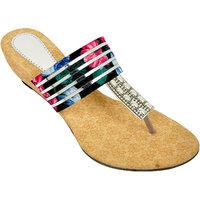 Altek Comfort Designer Multi-color Heel Wedges (foot-13