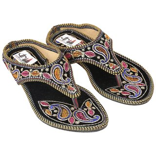 Decot Paradise Multi Color Wedges Ethnic Footwear