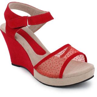 Hansx Women's Red Wedges