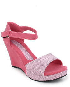 Hansx Women's Pink Wedges