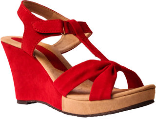Hansx Women's Red Wedges